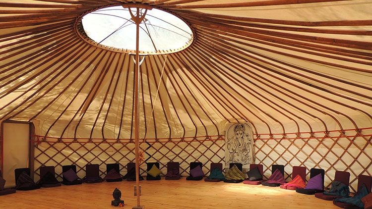 House of Light, retreat centre, teaching space, massive yurt